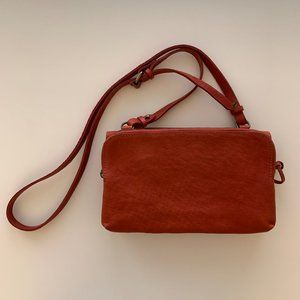 MADEWELL Double Pouch Cross-body Bag (Rust)